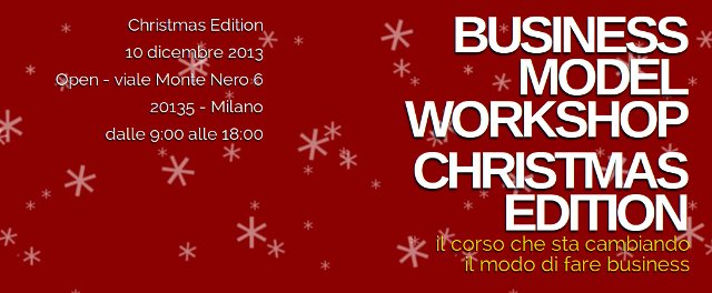 Il logo dell'edizione speciale del Business Model Canvas: Christmas Edition.